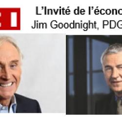 Jim Goodnight, PDG de SAS, invité de LCI dans l'émission L'Invité de l'économie